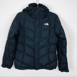 The North Face Black Hoodie Puffer Jacket/Medium